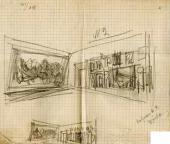 А.В. Щусев. Проект развески зала В.И. Сурикова в Третьяковской галерее. [1944]