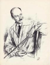 Г.С. Верейский. Портрет Е.Е. Лансере. Сентябрь–октябрь 1944