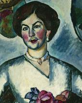 И.И.МАШКОВ. Портрет дамы с фазанами. 1911. Фрагмент