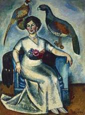 И.И.МАШКОВ. Портрет дамы с фазанами. 1911
