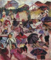 А.В.ЛЕНТУЛОВ. Зонтики. Около 1910