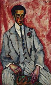И.И.МАШКОВ. Портрет неизвестного с цветком в петлице. 1910