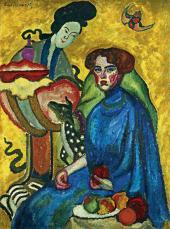 И.И.МАШКОВ. Портрет Евгении Ивановны Киркальди. 1910