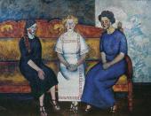 И.И.МАШКОВ. Три сестры на диване (Н., Л. и Е. Самойловы). 1911