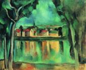 Морис ВЛАМИНК. Городок на берегу озера. Около 1909