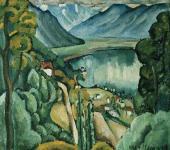 И.И.МАШКОВ. Женевское озеро. Глион. 1914