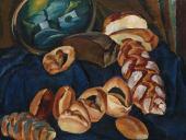 П.П.КОНЧАЛОВСКИЙ. Хлебы на синем. 1913