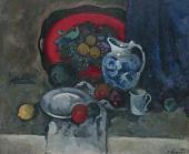 А.В.КУПРИН. Натюрморт с красным подносом и кувшином. 1930