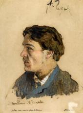 Портрет А.П.Чехова. 1885–1886 Этюд.