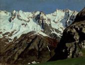 Цепь гор. Монблан. 1897