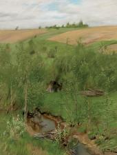 У ручья. Около 1899