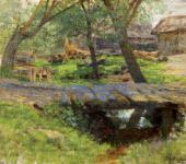 И.И.ЛЕВИТАН. Мостик. Саввинская слобода. 1884