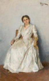 И.И.ЛЕВИТАН. Портрет художницы Софии Петровны Кувшинниковой (1847–1907). 1888