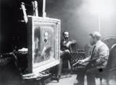 В.А.Серов пишет портрет И.И.Левитана в его мастерской Фотография. 1892–1893