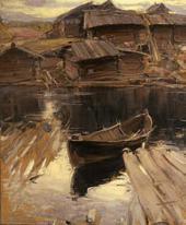АБРАМ АРХИПОВ. СЕВЕРНАЯ ДЕРЕВНЯ. 1903