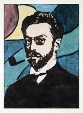 Г. МЮНТЕР. ПОРТРЕТ В. КАНДИНСКОГО. 1906. КСИЛОГРАФИЯ