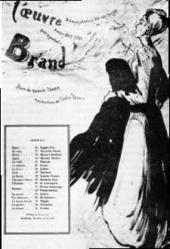 ПРОГРАММА ПРЕМЬЕРЫ ПЬЕСЫ Г. ИБСЕНА «БРАНД» В THÈÂTRE L´OEUVRE В ПАРИЖЕ. 1895