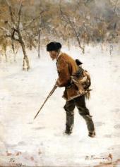 Охотник зимой. 1890