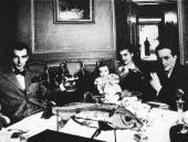 Игорь Маркевич с первой женой Кирой Нижинской и их сыном Вацлавом