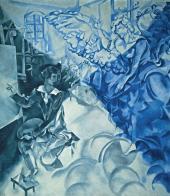 Видение (Автопортрет с музой). 1917–1918