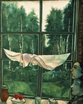 Окно на даче. 1915
