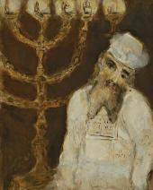 Марк Шагал. Аарон с семисвечником. 1931