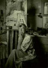 Марианна Веревкина в своей мастерской в Асконе. Фотография. 1925–1930