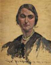Кама в жемчужном ожерелье. 1940