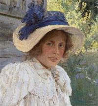 Жена художника Ольга Серова