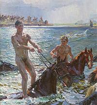 Аркадий Пластов «Купание коней». ИСТОРИЯ ОДНОЙ КАРТИНЫ К 125-ЛЕТИЮ СО ДНЯ РОЖДЕНИЯ